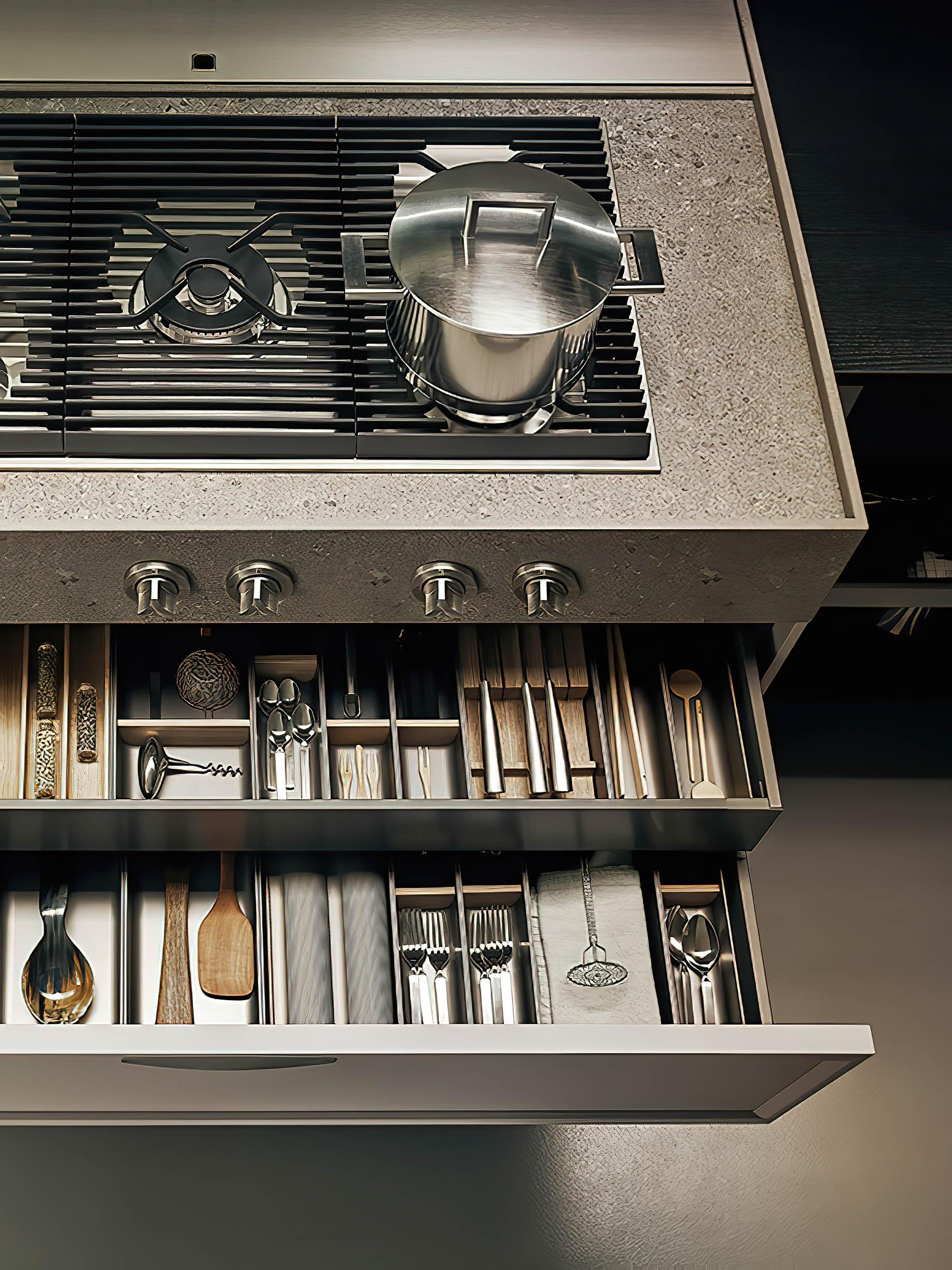 K-lab Contemporary Kitchen Ernestomeda Italy – Giuseppe Bavuso – Surf System