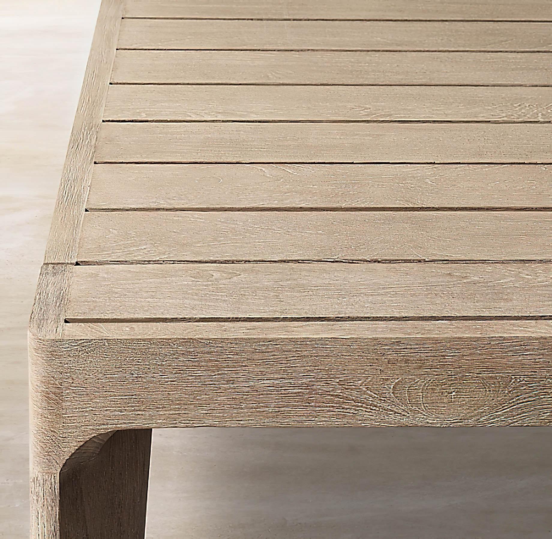Malta Teak Collection Outdoor Furniture Design for RH – Ramon Esteve – Malta Teak Dining Table