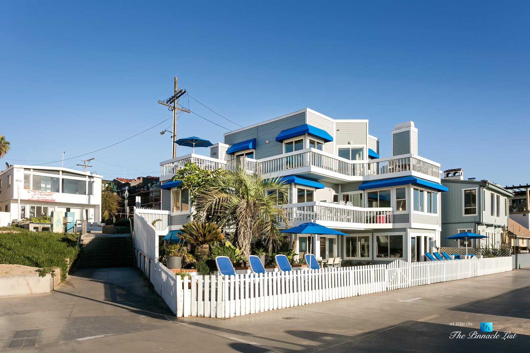 3500 The Strand, Hermosa Beach, CA, USA – Beachfront Decks and Patios – Luxury Real Estate – Original 90210 Beach House – Oceanfront Home