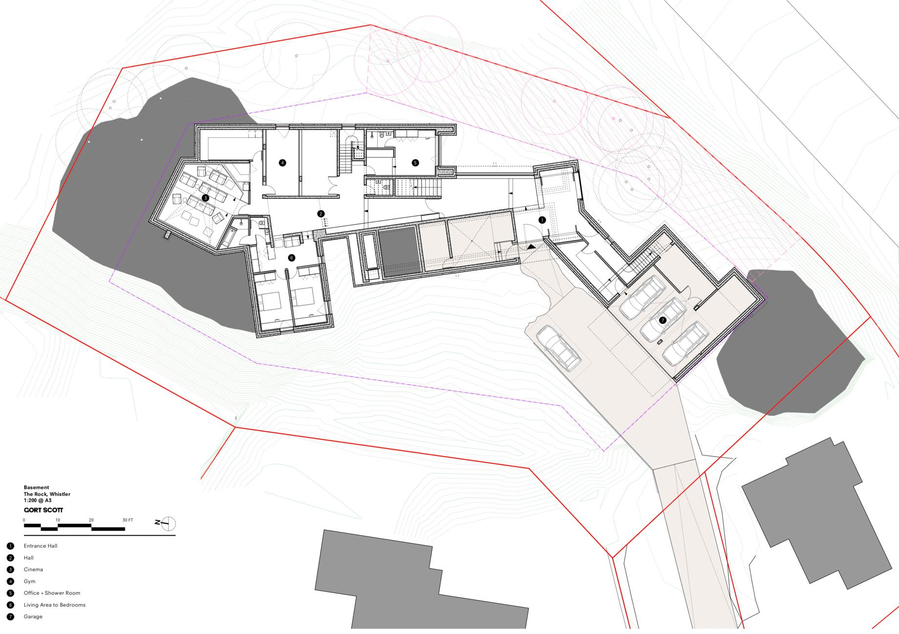 Floor Plans – The Rock Luxury Estate Residence – Hillcrest Lane, Whistler, BC, Canada