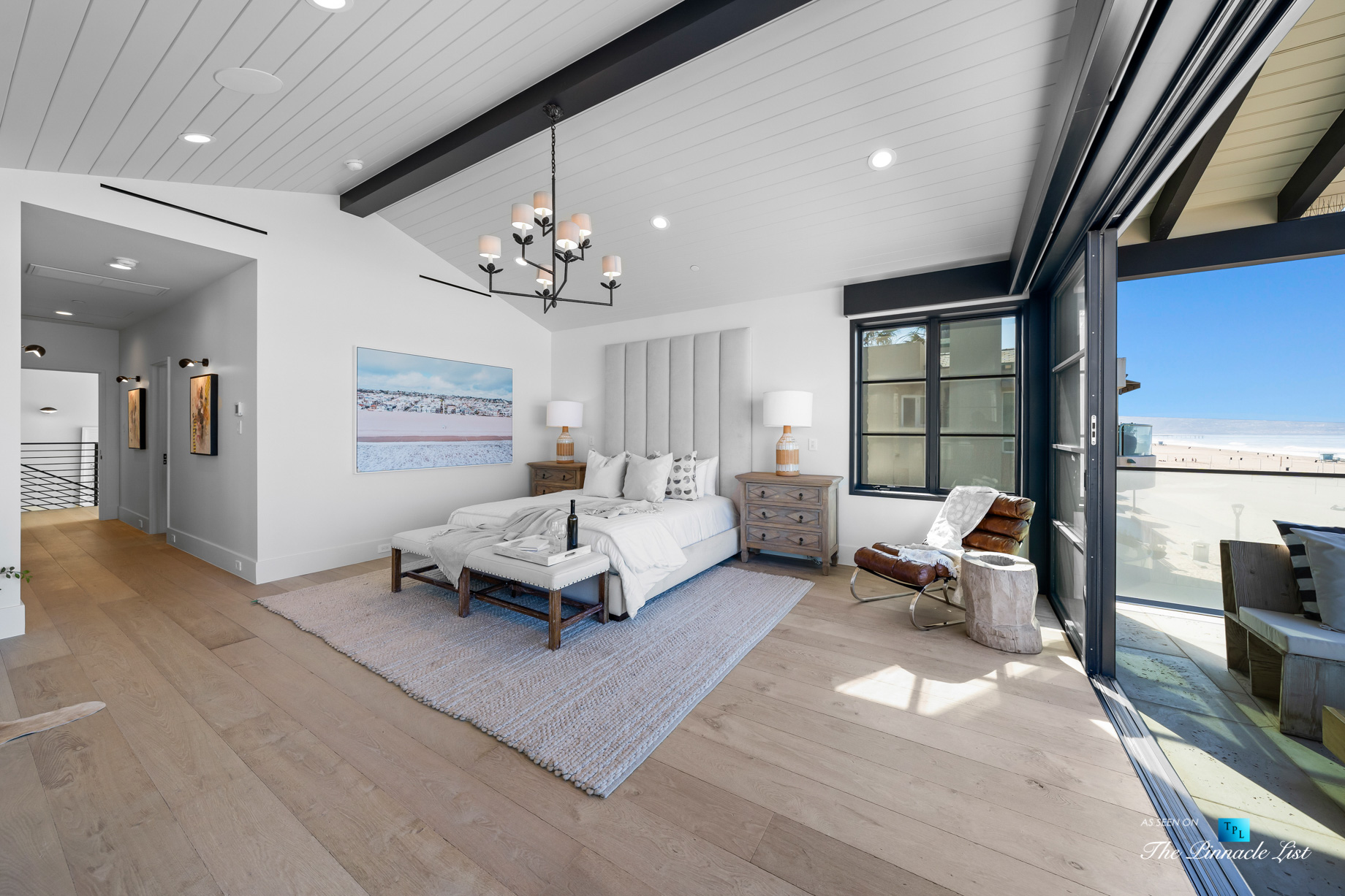 508 The Strand, Manhattan Beach, CA, USA – Master Bedroom Beach View – Luxury Real Estate – Oceanfront Home