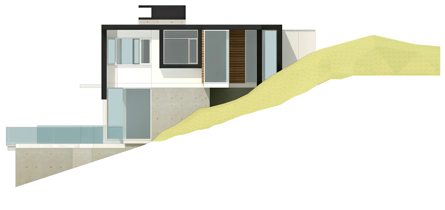 Elevations - West Coast Modern - 4249 Rockbank Place, West Vancouver, BC, Canada