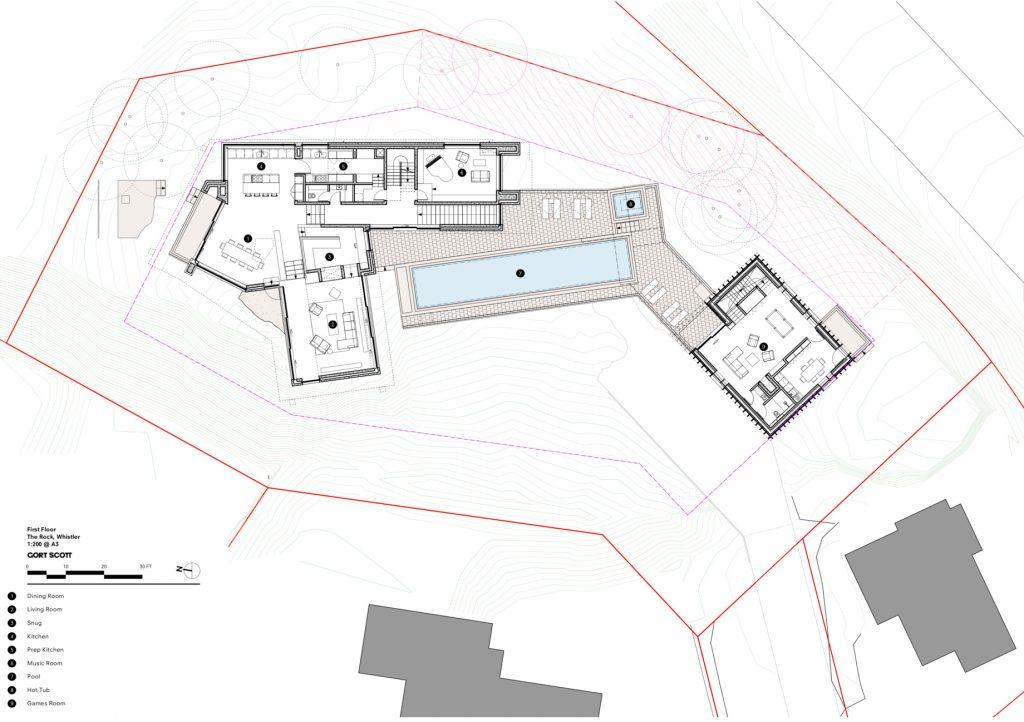 Floor Plans - The Rock Luxury Estate Residence - Hillcrest Lane, Whistler, BC, Canada