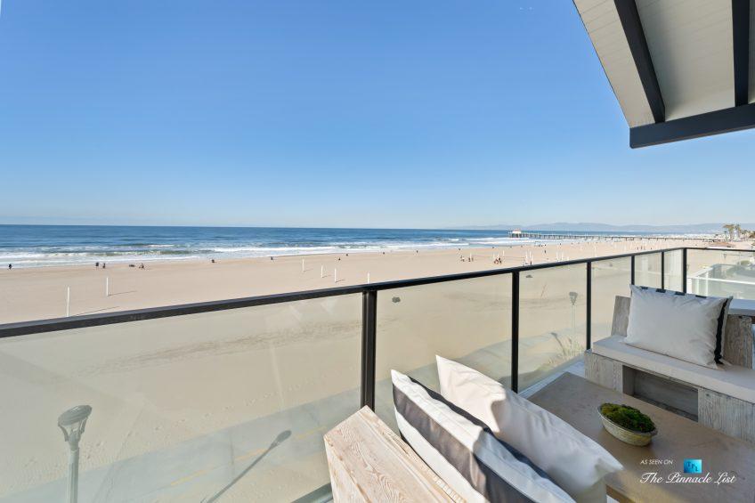 508 The Strand, Manhattan Beach, CA, USA - Master Bedroom Balcony Beach View - Luxury Real Estate - Oceanfront Home