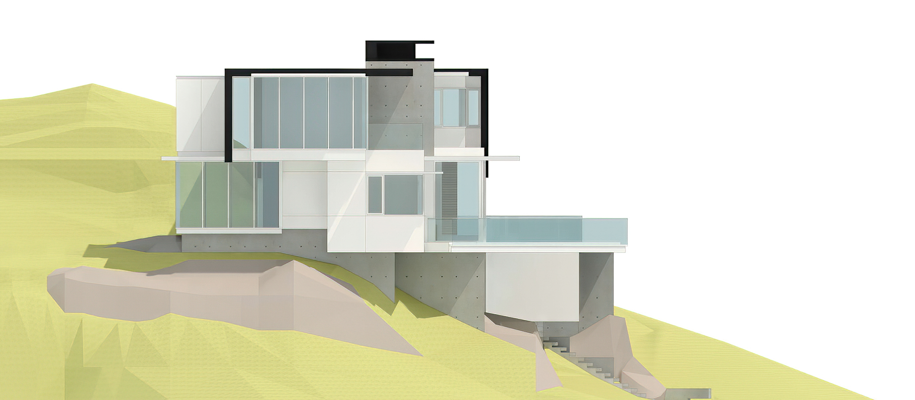 Elevations – West Coast Modern – 4249 Rockbank Place, West Vancouver, BC, Canada