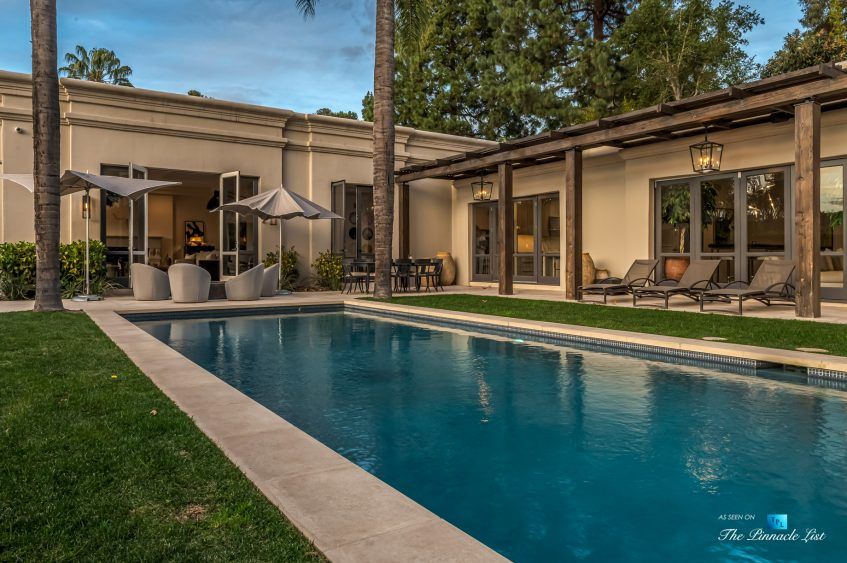2720 Ellison Dr, Beverly Hills, CA, USA - Exterior Backyard Deck and Pool - Luxury Real Estate - Italian Villa Hilltop Home