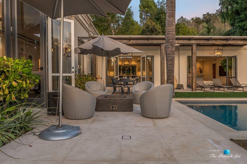 2720 Ellison Dr, Beverly Hills, CA, USA - Deck Umbrellas Next to Pool - Luxury Real Estate - Italian Villa Hilltop Home