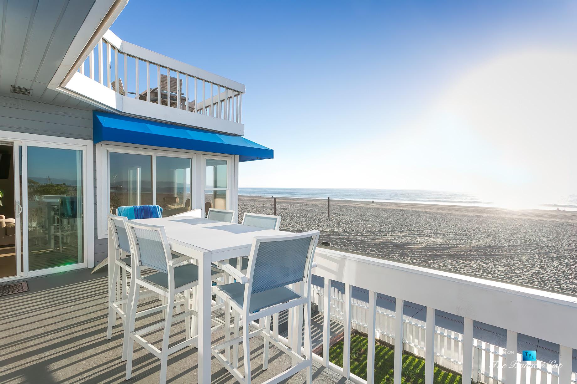 3500 The Strand, Hermosa Beach, CA, USA - Beachfront Deck – Luxury Real Estate – Original 90210 Beach House - Oceanfront Home