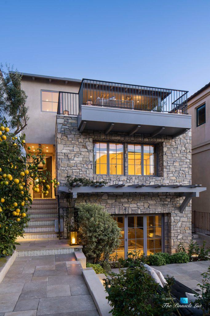 220 8th St, Manhattan Beach, CA, USA - Luxury Real Estate - Ocean View Dream Home - Front Exterior Dusk View