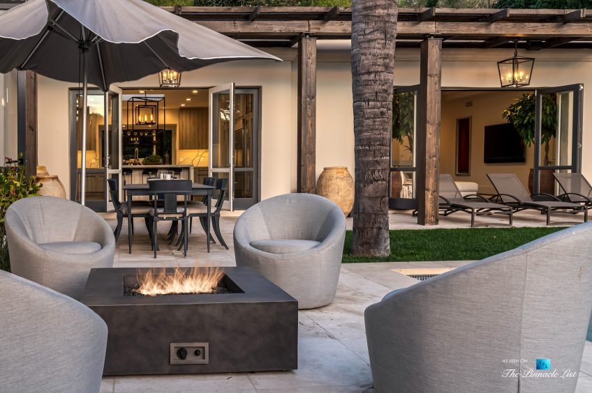 2720 Ellison Dr, Beverly Hills, CA, USA - Deck Fire Pit Next to Pool - Luxury Real Estate - Italian Villa Hilltop Home