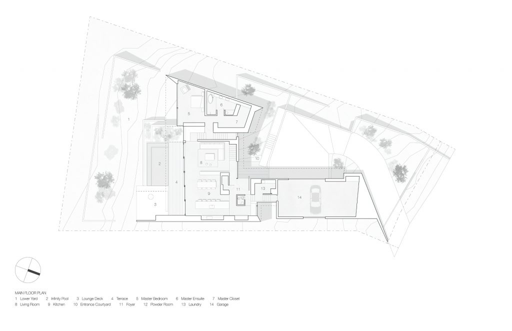 Site Plan - Sunset House Modern Organic Minimalism - West Vancouver, BC, Canada