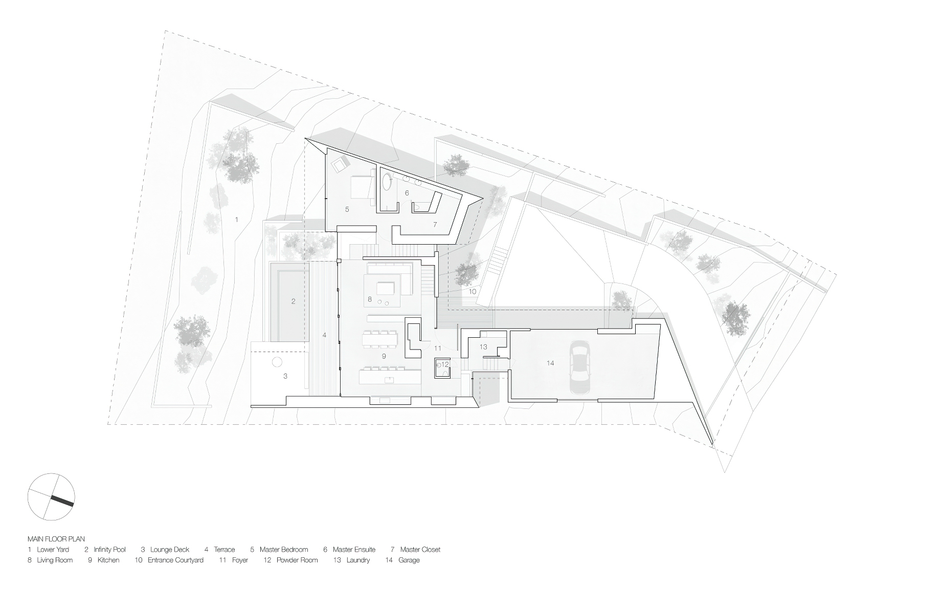 Site Plan – Sunset House Modern Organic Minimalism – West Vancouver, BC, Canada