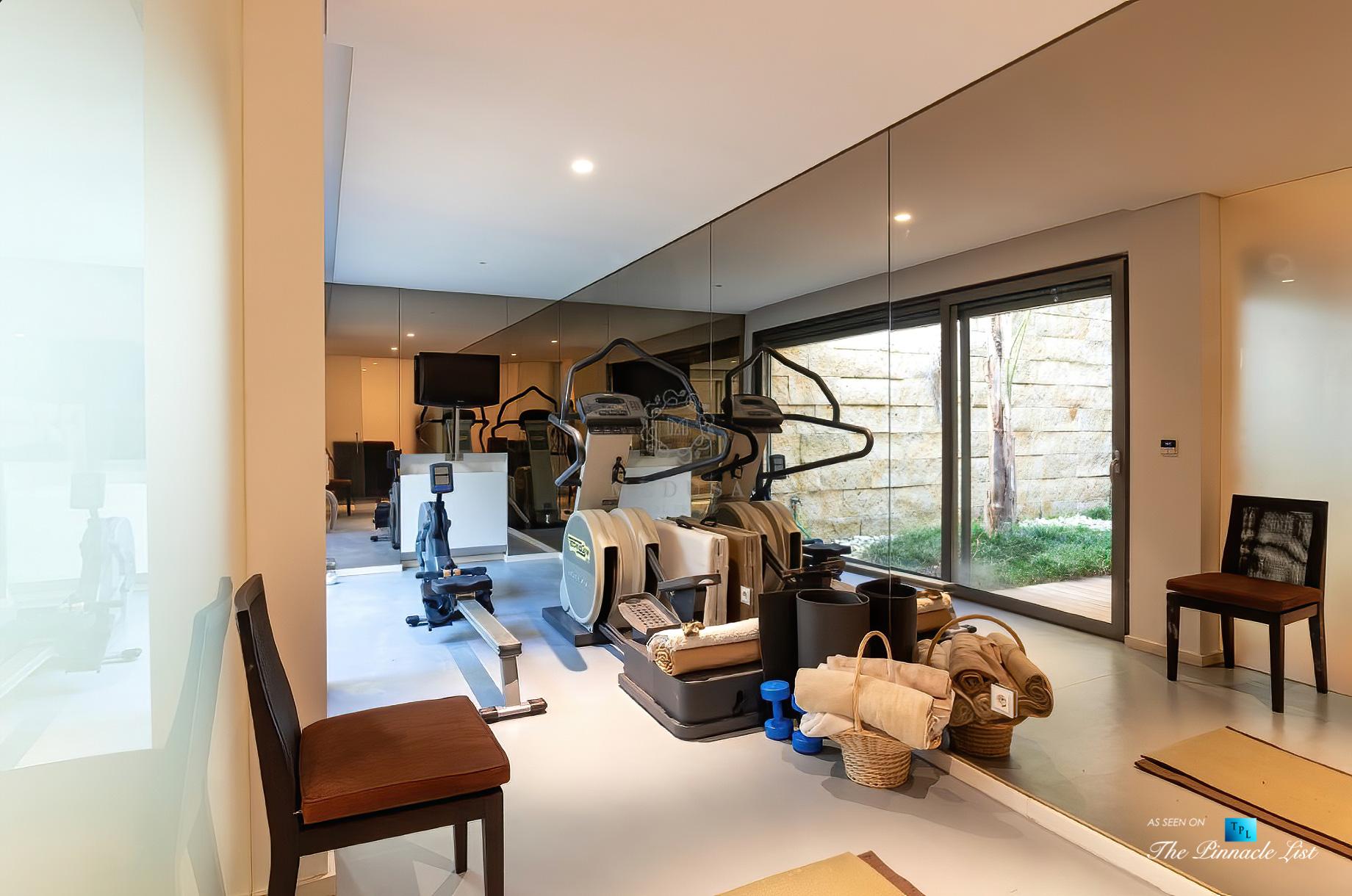 Francelos Beach Luxury T5 Villa – Porto, Portugal – Lower Level Gym – Luxury Real Estate – Modern Home