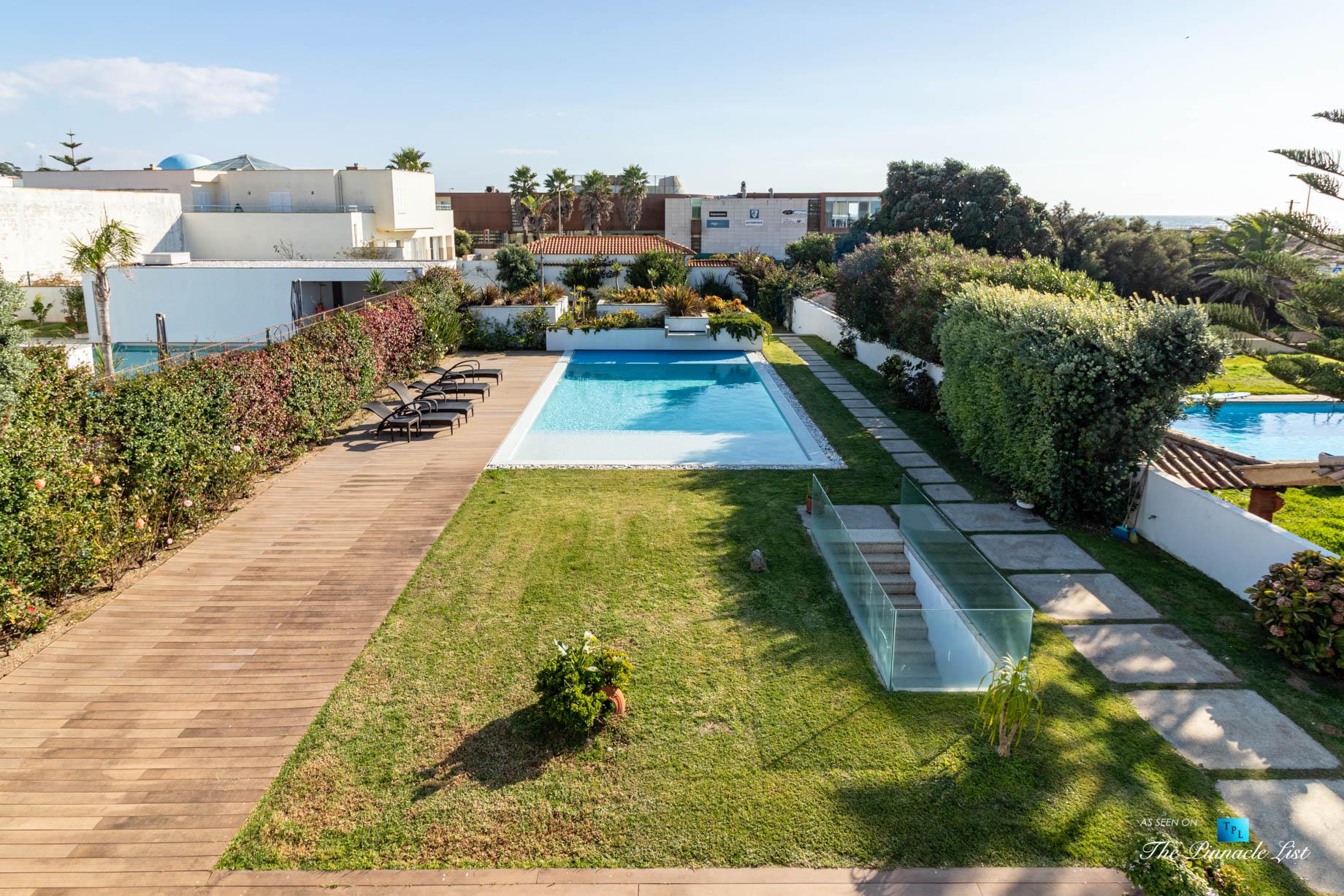 Francelos Beach Luxury T5 Villa - Porto, Portugal - Back Yard with Pool - Luxury Real Estate – Modern Home