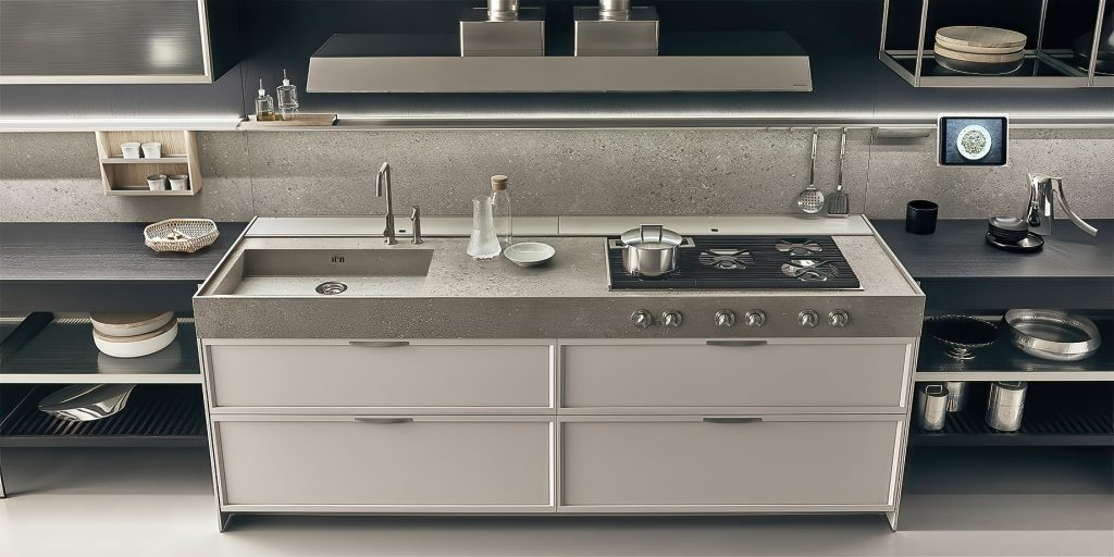 K-lab Contemporary Kitchen Ernestomeda Italy - Giuseppe Bavuso - ZERO GLOSS