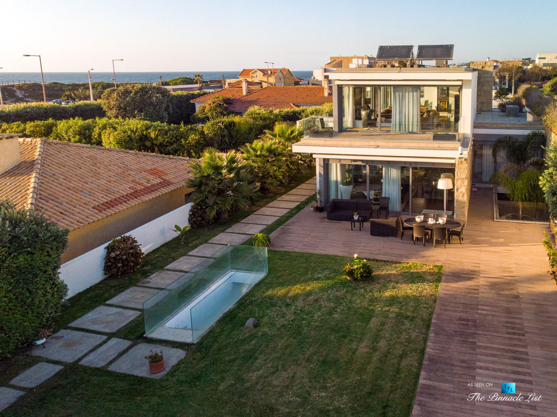 Francelos Beach Luxury T5 Villa – Porto, Portugal – Back Yard Underground Stairs – Luxury Real Estate – Modern Home