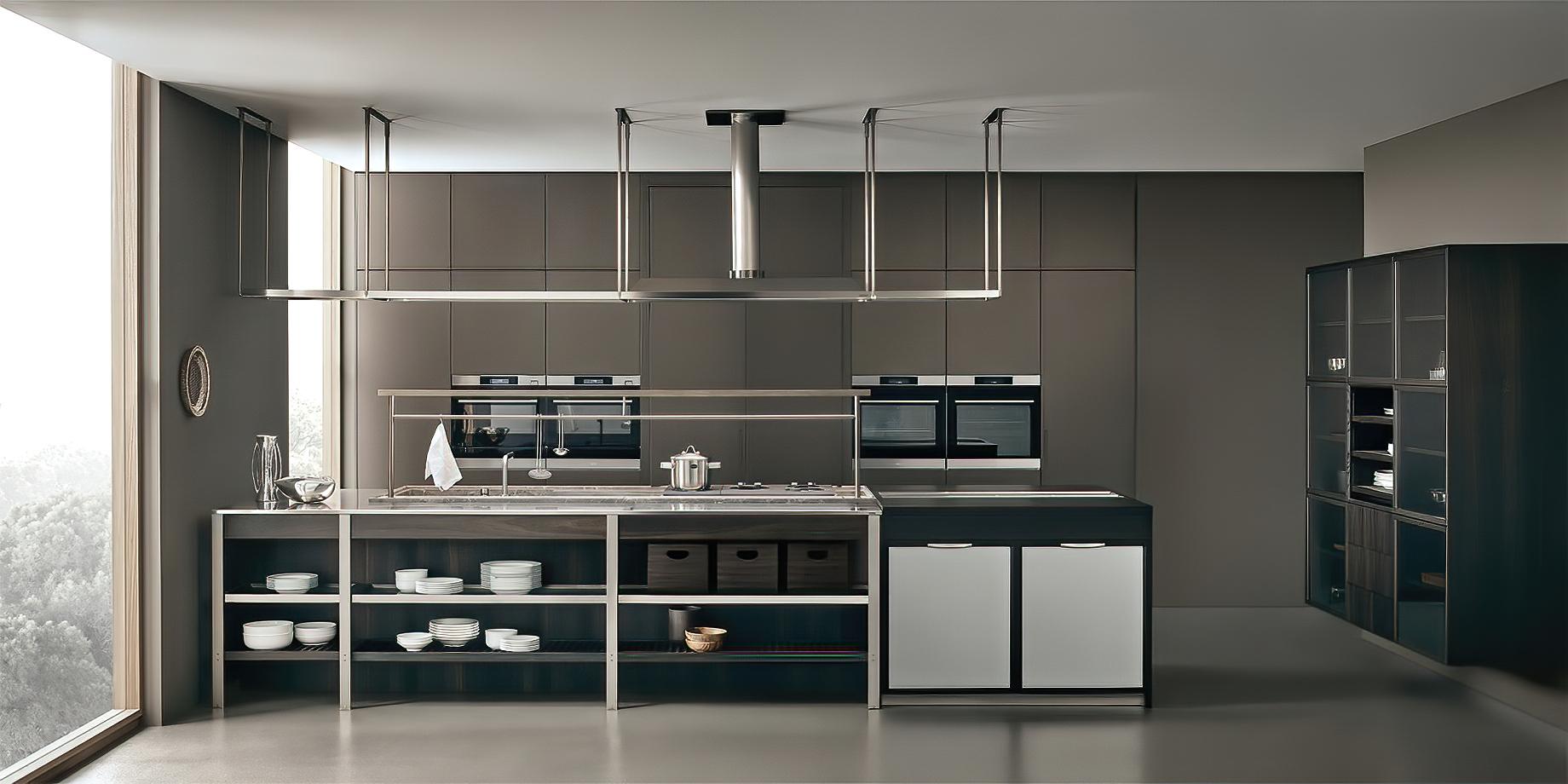 K-lab Contemporary Kitchen Ernestomeda Italy – Giuseppe Bavuso – K-System Island Kitchen Hood