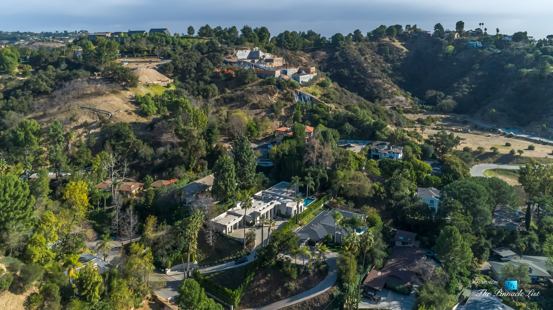2720 Ellison Dr, Beverly Hills, CA, USA - Drone Aerial View - Luxury Real Estate - Italian Villa Hilltop Home