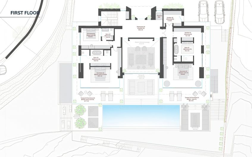 Floor Plans - Villa Alcuzcuz Marbella - La Reserva del Alcuzcuz, Benahavis, Spain