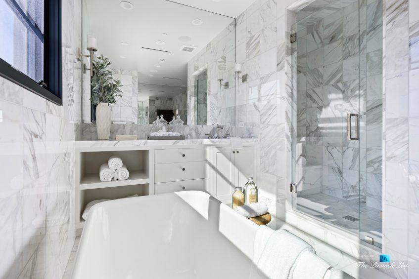 508 The Strand, Manhattan Beach, CA, USA - Master Bathroom Marble Interior - Luxury Real Estate - Oceanfront Home