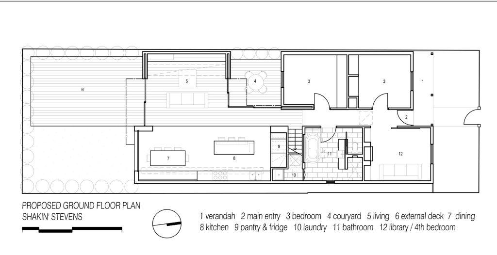 Floor Plans - Shakin Stevens Green Space House - Melbourne, Victoria, Australia