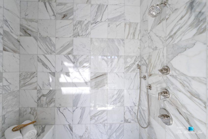 508 The Strand, Manhattan Beach, CA, USA - Master Bathroom Marble Encased Shower - Luxury Real Estate - Oceanfront Home