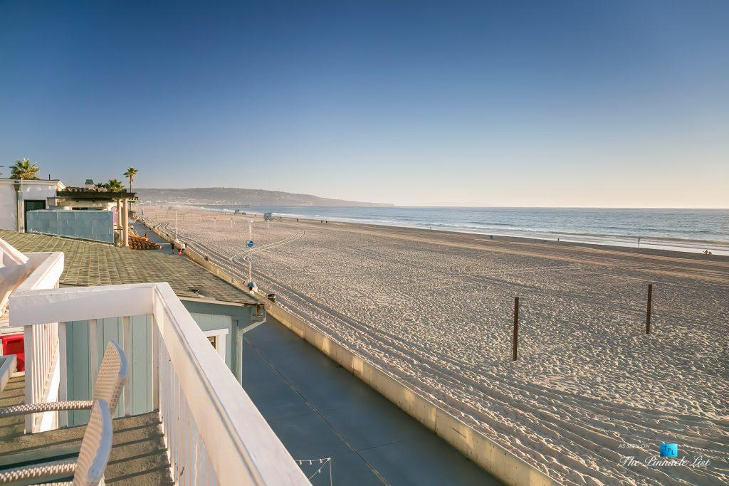 3500 The Strand, Hermosa Beach, CA, USA - Deck Beach View - Luxury Real Estate – Original 90210 Beach House