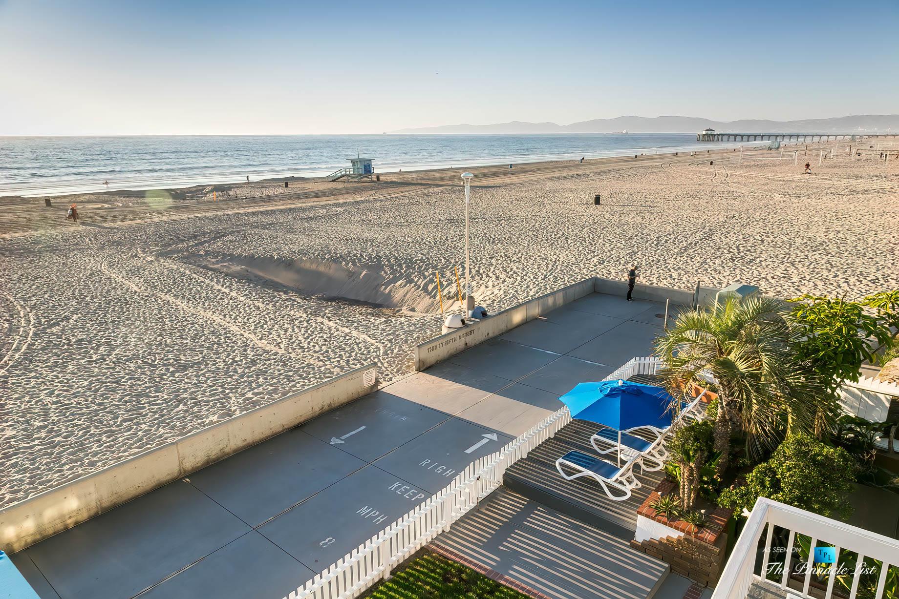 3500 The Strand, Hermosa Beach, CA, USA – Deck Beach View – Luxury Real Estate – Original 90210 Beach House
