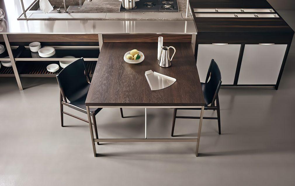 K-lab Contemporary Kitchen Ernestomeda Italy - Giuseppe Bavuso - K-System Peninsula