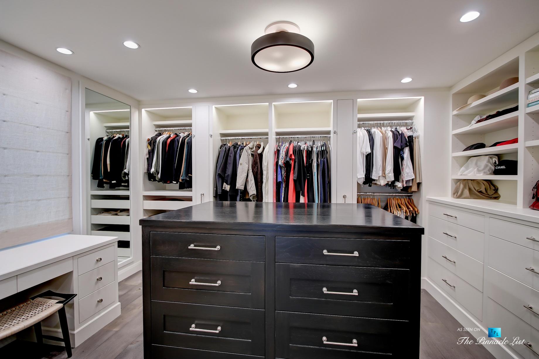 825 Highview Ave, Manhattan Beach, CA, USA - Master Bedroom Walk In Wardrobe Room - Luxury Real Estate - Modern Spanish Home