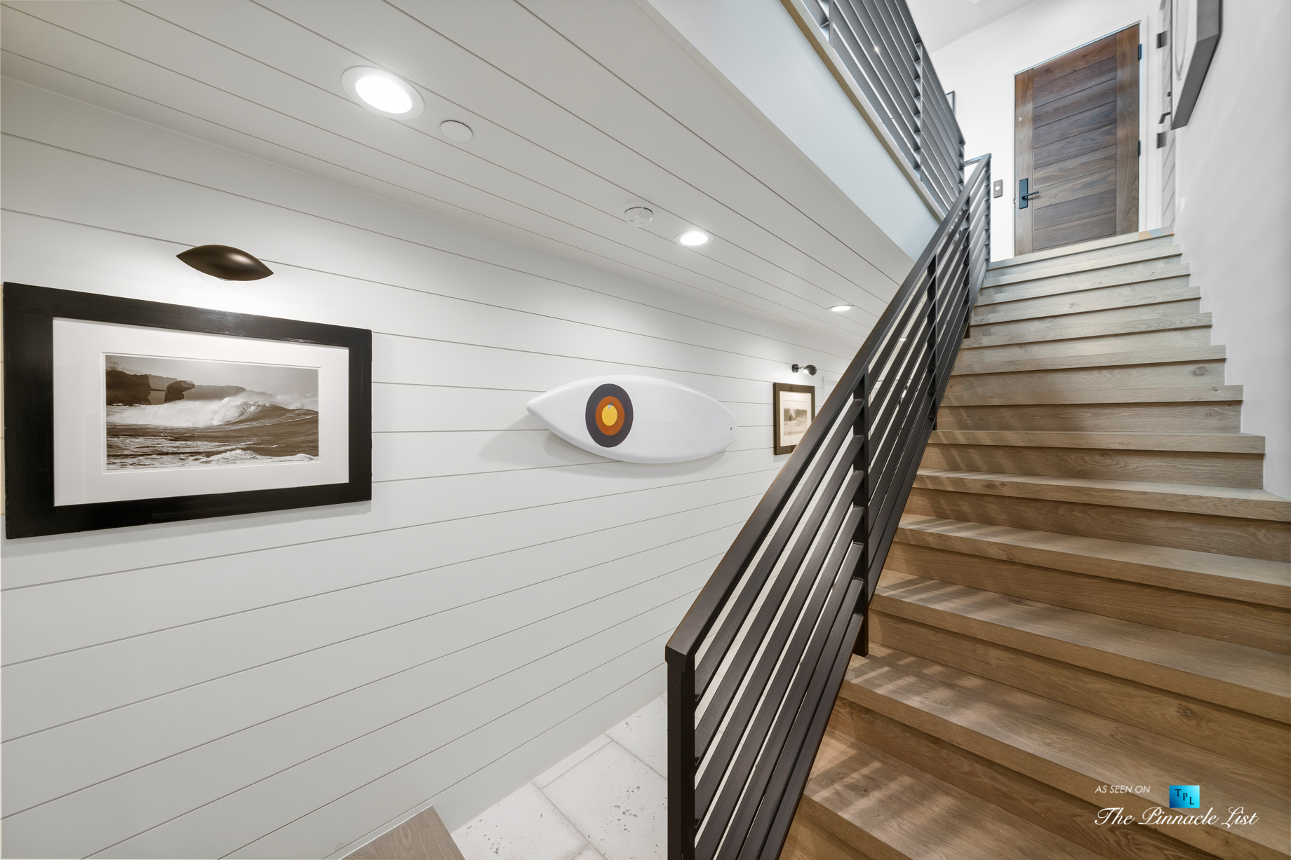 508 The Strand, Manhattan Beach, CA, USA - Lower Hallway Stairs - Luxury Real Estate - Oceanfront Home
