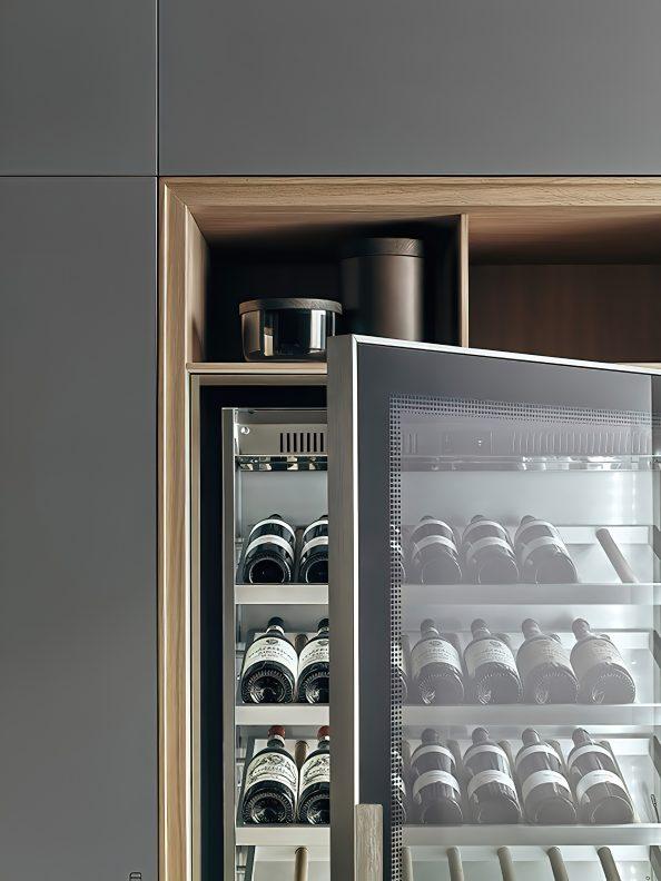 K-lab Contemporary Kitchen Ernestomeda Italy - Giuseppe Bavuso - Wine Dispenser