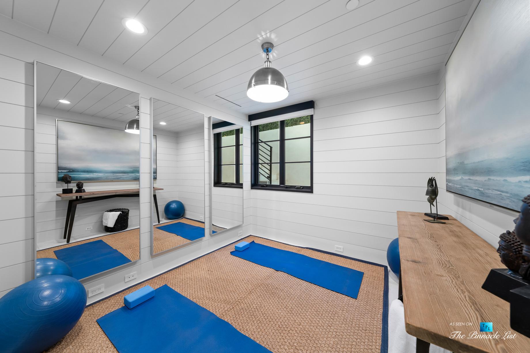 508 The Strand, Manhattan Beach, CA, USA – Lower Level Yoga Room – Luxury Real Estate – Oceanfront Home