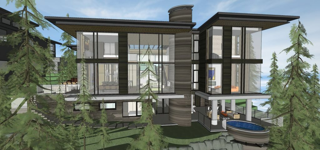 Render - Whistler Luxury Mountain Estate - Kadenwood Dr, Whistler, BC, Canada