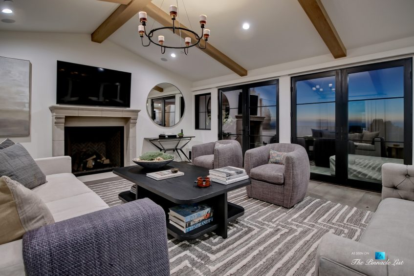 825 Highview Ave, Manhattan Beach, CA, USA - Night Living Room - Luxury Real Estate - Modern Spanish Home