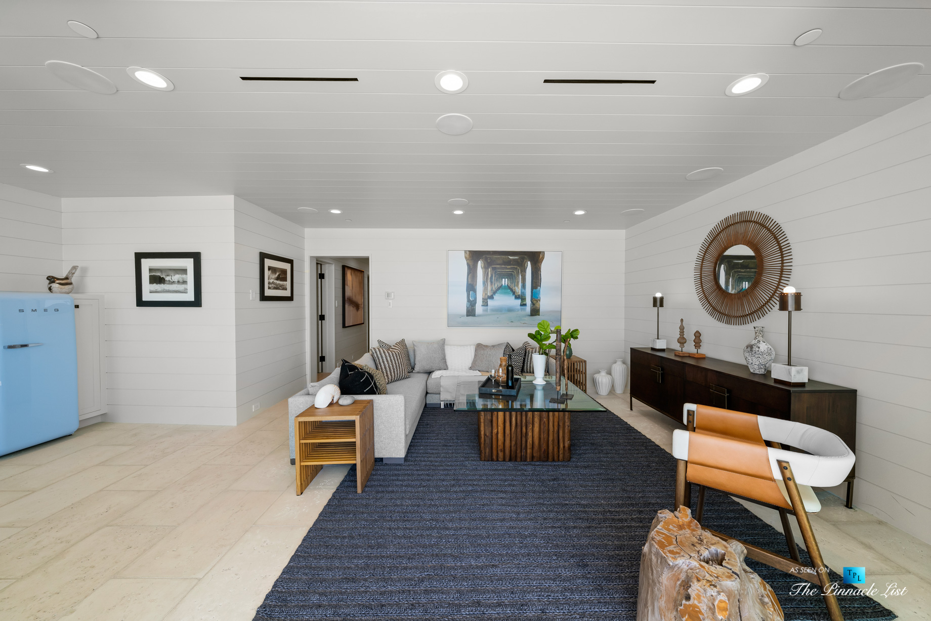 508 The Strand, Manhattan Beach, CA, USA – Lower Level Living Room – Luxury Real Estate – Oceanfront Home