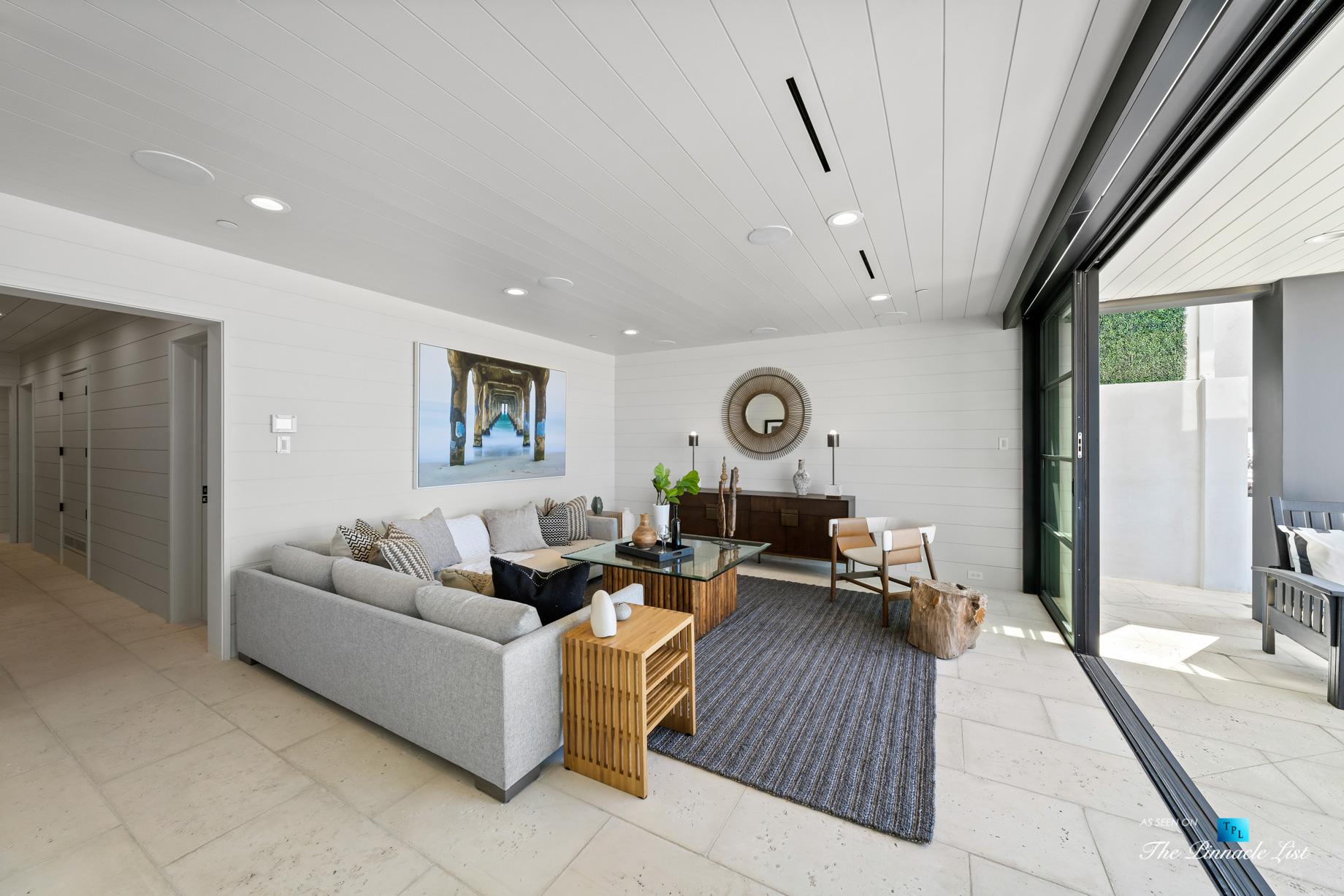 508 The Strand, Manhattan Beach, CA, USA – Lower Level Living Room – Luxury Real Estate – Oceanfront Home