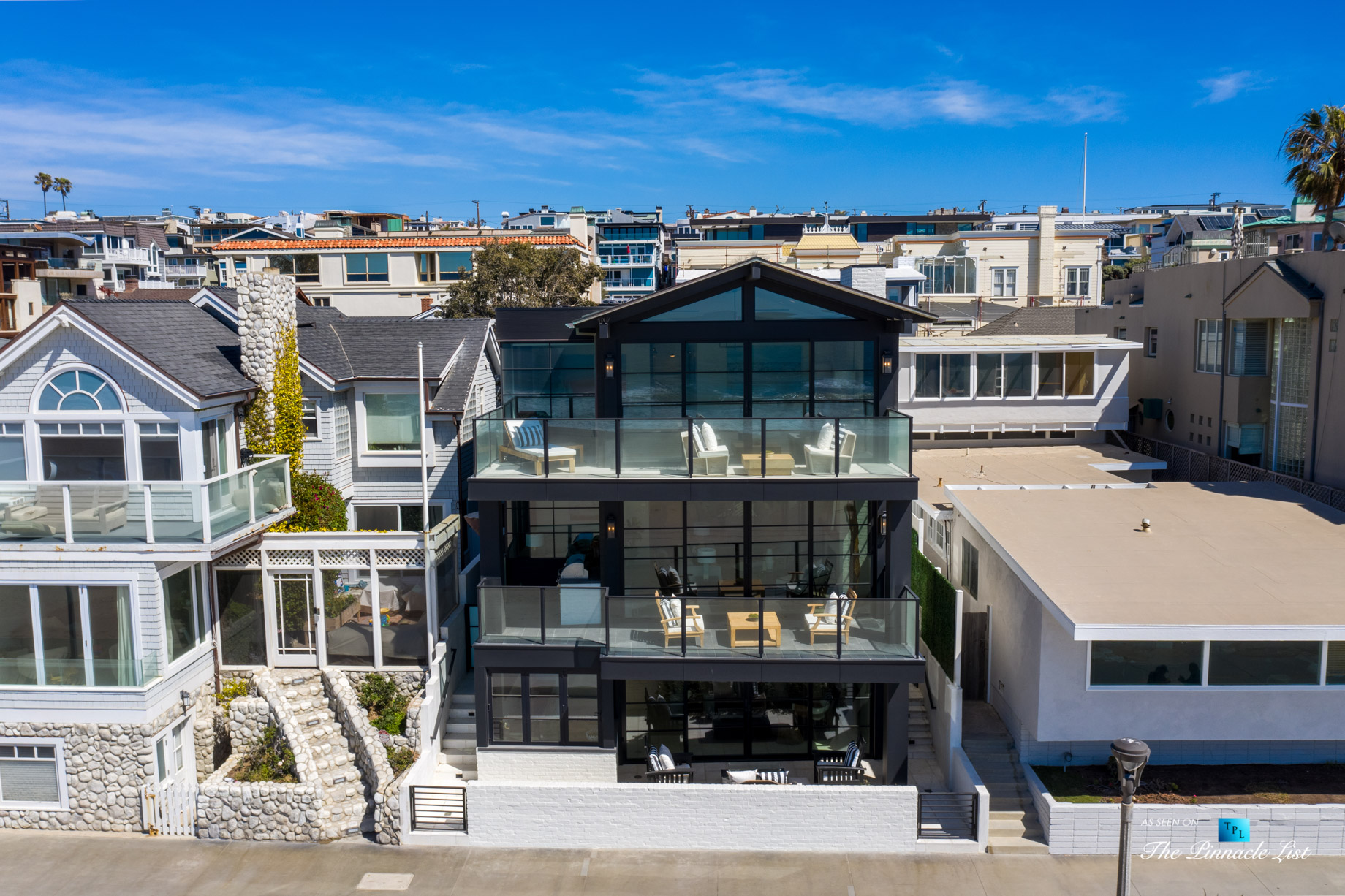 508 The Strand, Manhattan Beach, CA, USA - Exterior Front Balconies - Luxury Real Estate - Oceanfront Home