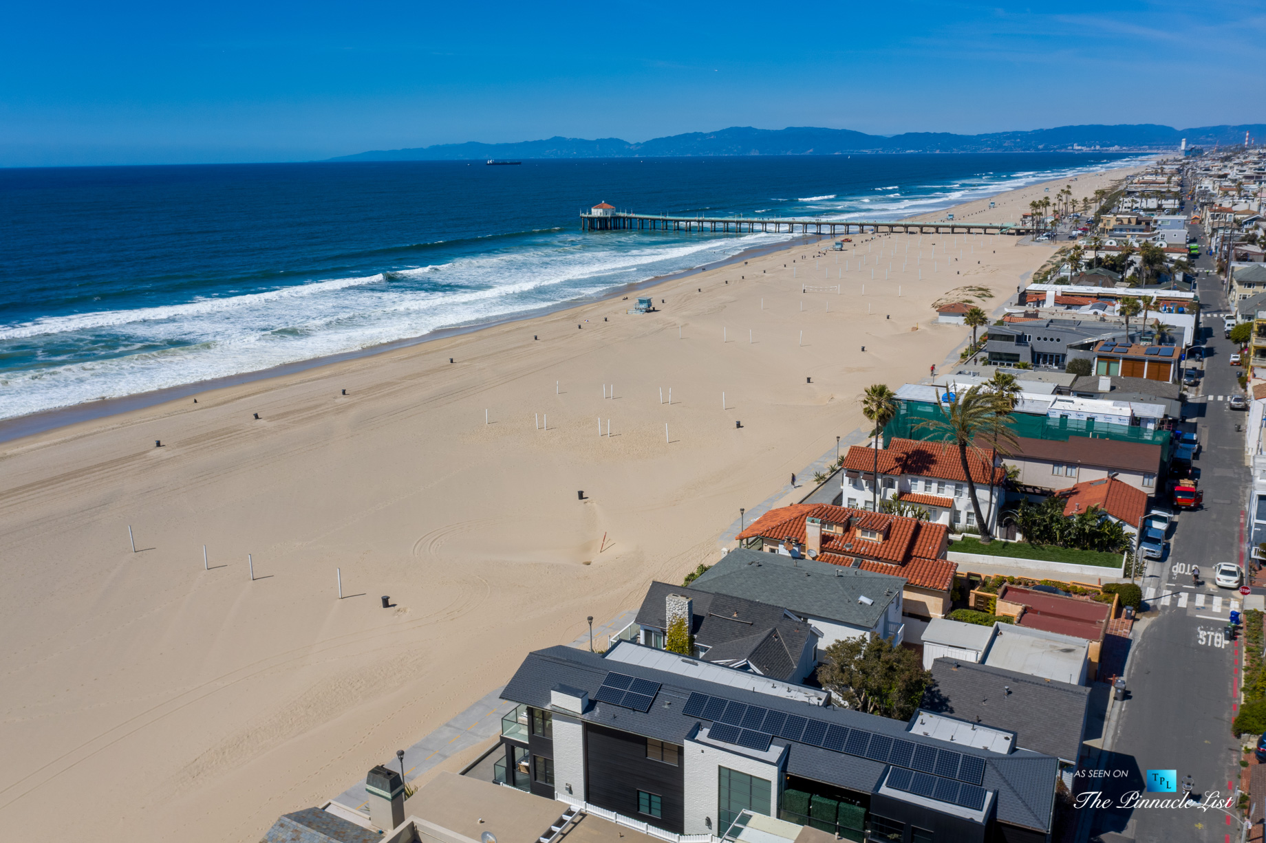 508 The Strand, Manhattan Beach, CA, USA – The Strand Beach Drone View – Luxury Real Estate – Oceanfront Home
