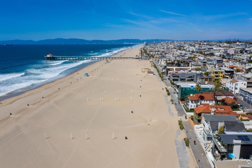 508 The Strand, Manhattan Beach, CA, USA - The Strand Beach Drone View - Luxury Real Estate - Oceanfront Home