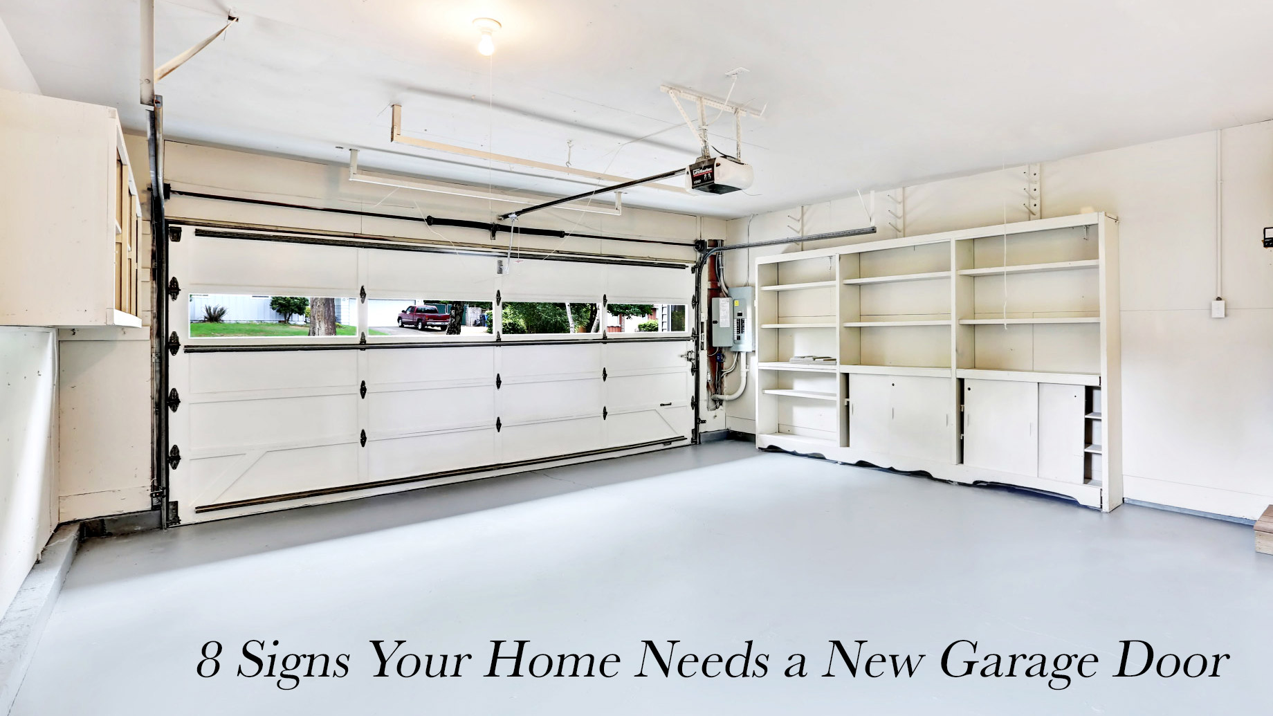 8 Signs Your Home Needs a New Garage Door