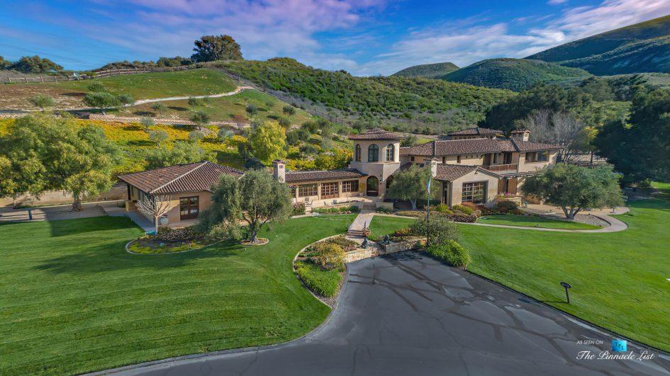 2667 Via De Los Ranchos, Los Olivos, CA, USA - Aerial View