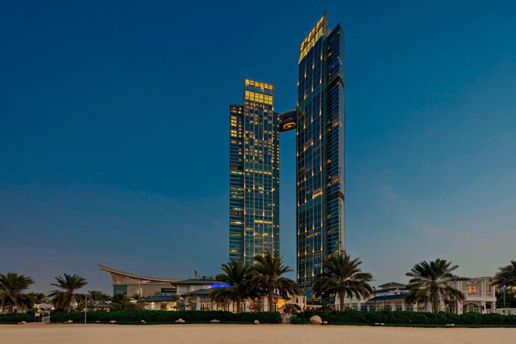 The St. Regis Abu Dhabi Luxury Hotel - Abu Dhabi, United Arab Emirates - Dusk Exterior