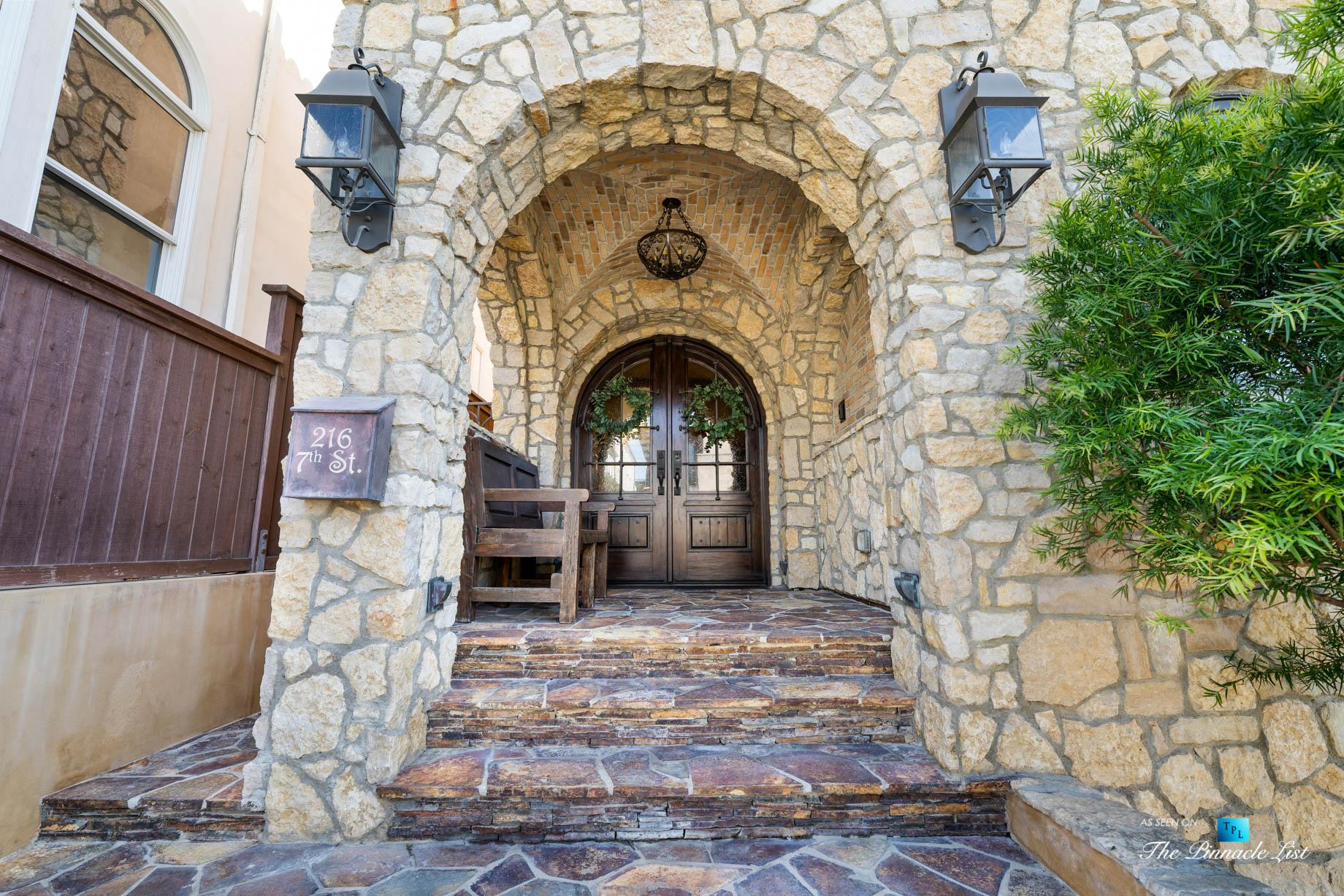 216 7th St, Manhattan Beach, CA, USA – Luxury Real Estate – Coastal Villa Home – Front Door Porch