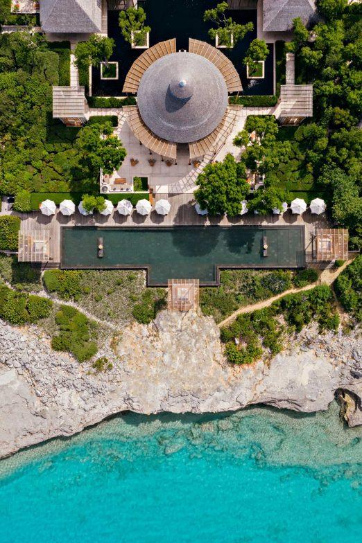 Amanyara Luxury Resort - Providenciales, Turks and Caicos Islands - Main Pavilion Overhead Aerial