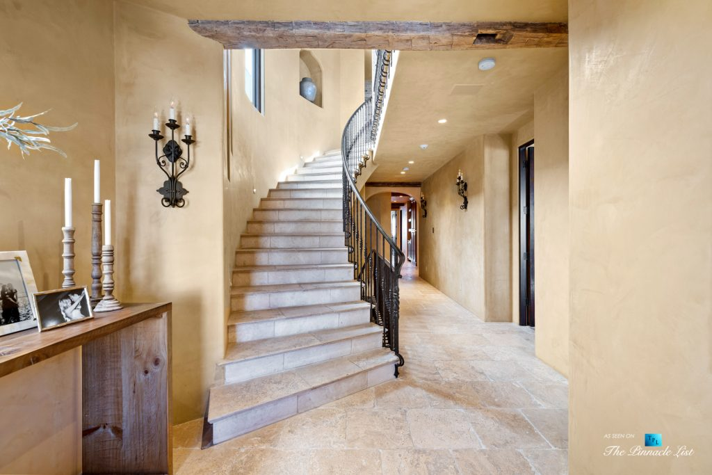 216 7th St, Manhattan Beach, CA, USA - Luxury Real Estate - Coastal Villa Home - Entry Foyer and Stairs