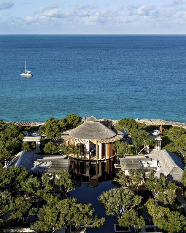 Amanyara Luxury Resort - Providenciales, Turks and Caicos Islands - Main Pavilion Aerial