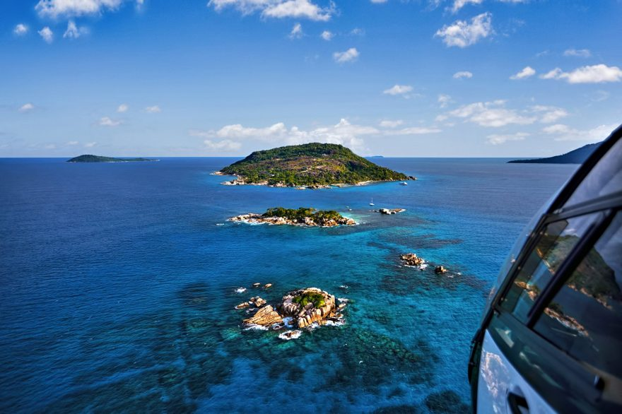 Six Senses Zil Pasyon Luxury Resort - Felicite Island, Seychelles - Helicopter Arrival