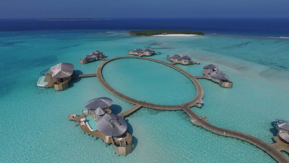 Soneva Jani Luxury Resort - Noonu Atoll, Medhufaru, Maldives - Overwater Villas Aerial