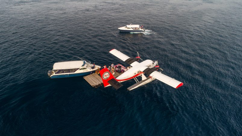 Amilla Fushi Luxury Resort and Residences - Baa Atoll, Maldives - Sea Plane Arrival Boat Taxi